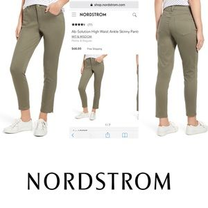 Wit & Wisdom Olive Green High Rise Ankle Pants